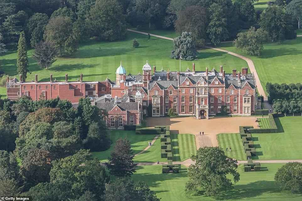 Scene of the showdown: The Queen has summoned Princes Charles, William and Harry to her Sandringham Estate (pictured) on Monday for unprecedented crisis talks to resolve the Sussex situation