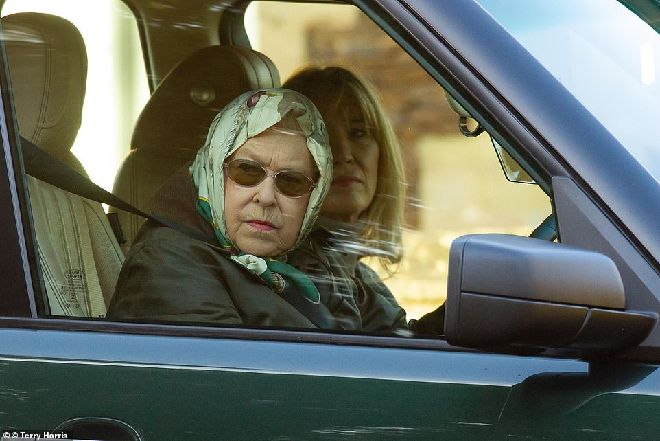 Sandringham House has found itself at the heart of the crisis enveloping the Duke and Duchess of Sussex. Pictured: The Queen on the Sandringham Estate today