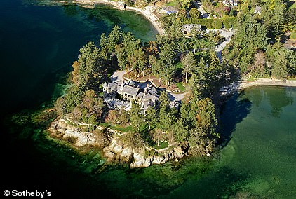 Idyllic: The royal couple have been living in a luxury £10.7million property on Vancouver Island