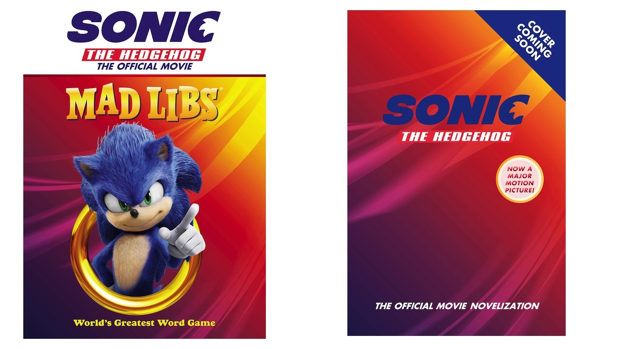 Sonic Mad Libs (left), Sonic novelization (right)