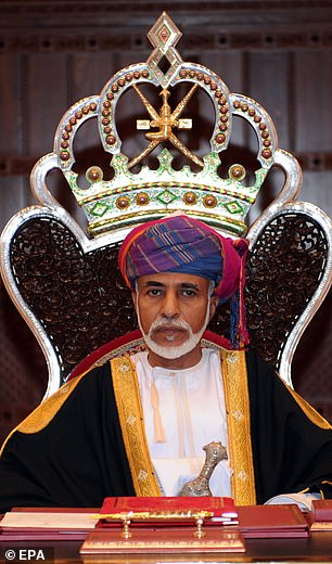 This comes after the Sultan travelled to Belgium for a medical checkup and was said to be in a 'stable condition'. Pictured: Qaboos in 2011