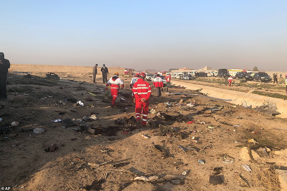 Iranian Red Crescent's Relief and Rescue Organization said it was impossible for there to be any survivors