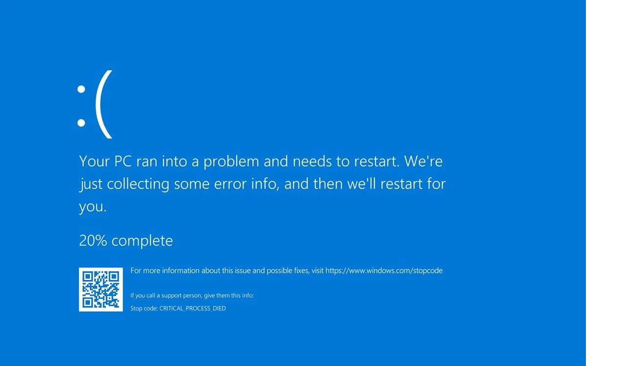 Microsoft Windows 10 update BSOD after CRITICAL_PROCESS_DIED error
