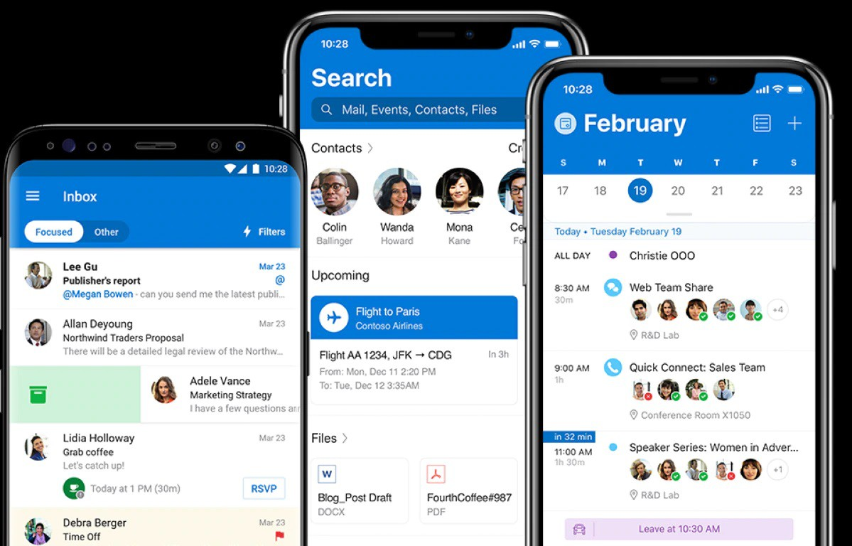 Microsoft Outlook Web Apps for iOS and Android