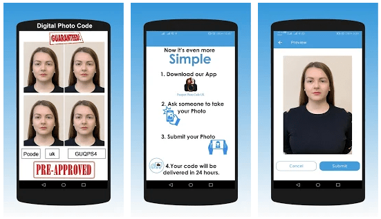 Passport Photo Code UK app for iOS Android